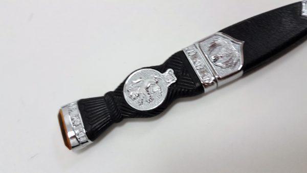 Chrome Lion Rampart Gift Boxed Sgian Dubh