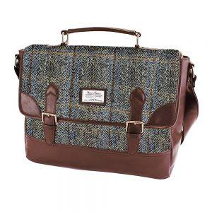 Harris Tweed Carloway Brown Check Briefcase