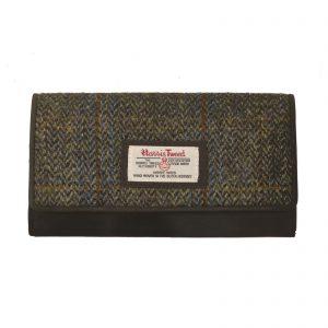 Harris Tweed Carloway Brown Large Purse