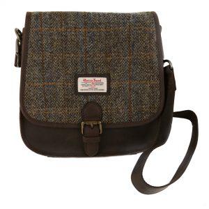 Harris Tweed Carloway Saddle Bag & Leather Trim