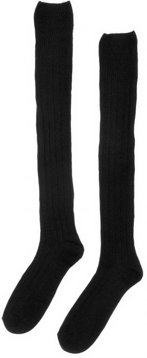 Chieftain Black Kilt Socks All Sizes