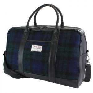 Harris Tweed Black Watch Holdall 100% virgin Wool