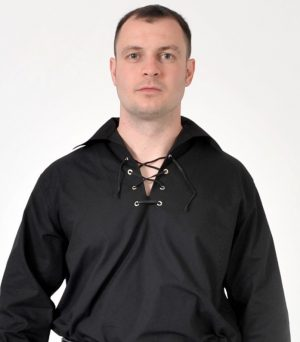 Black Jacobean Ghillie Shirt