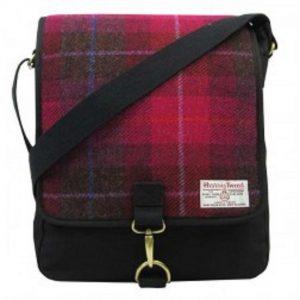 Harris Tweed Messenger Bag Cerise