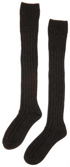 Chieftain Charcoal Grey Kilt Socks All Sizes