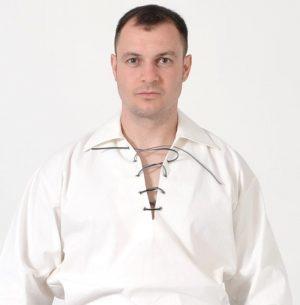Cream Jacobean Ghillie Shirt