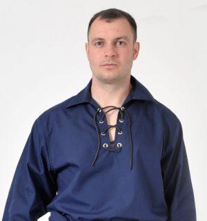 Navy Jacobean Ghillie Shirt