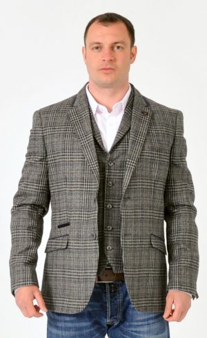 Grey Tweed Jacket Set SALE Price