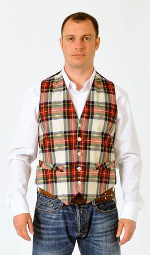 Stewart Dressed Tartan Waistcoat