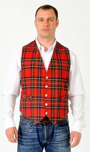 Royal Stewart Tartan Waistcoat