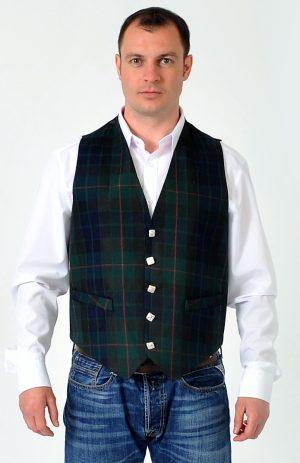 Gunn Modern Tartan Waistcoat